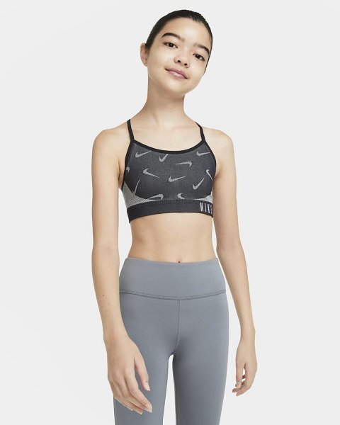 Nike Indy sports-BH til store barn (Jente)