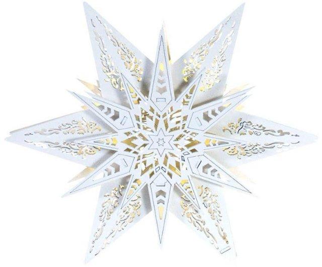 Premium Collection Adventsstjerne med LED-lys