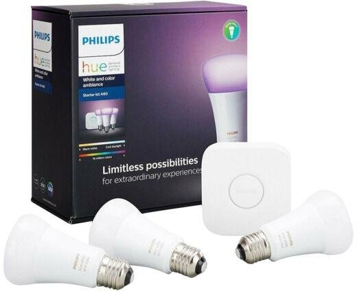 Philips Hue White/Color 3xE27 Startpakke