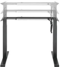 Ergonomisk hev/senk skrivebord med sveiv