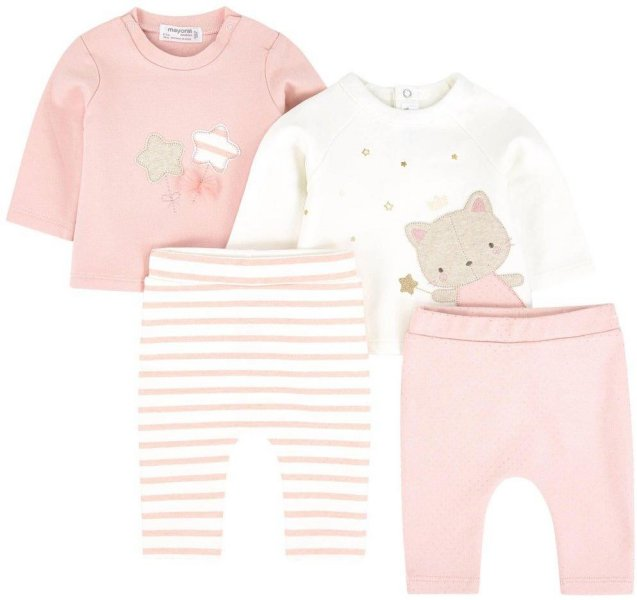 Mayoral 2 Pack of Pink Stars Top and Leggings Set