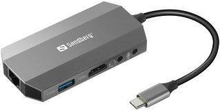 Sandberg USB-C 6-in1 Travel Dock