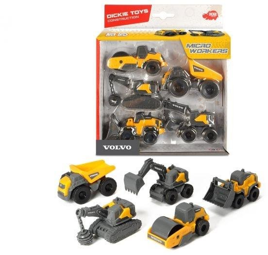 Dickie Toys Volvo Construction 5-Pack