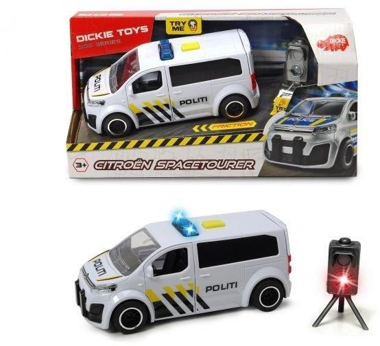 Dickie Toys Citroën Space Tourer Politibil med lys og lyd