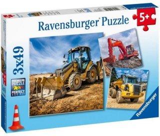 Ravensburger Puslespill Store maskiner 3x49 brikker
