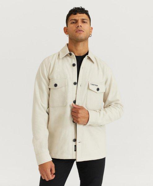 Calvin Klein Overshirt Wool Shirt Jacket