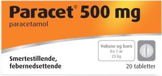 Paracet 500 mg tabletter 20 stk