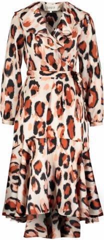 Maud Leopard Printed Ruffle Dress