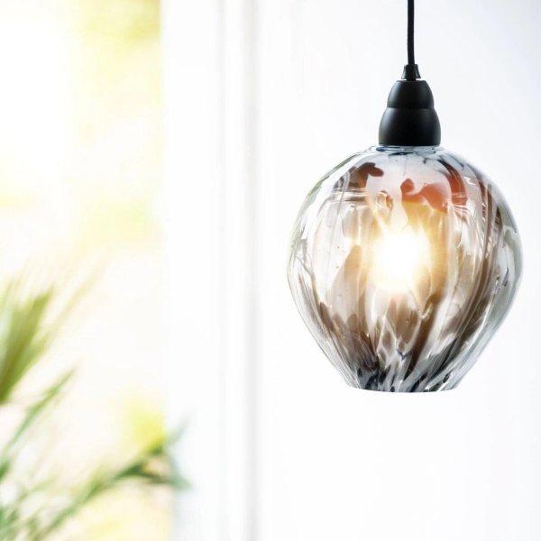 Magnor Glassverk Zebra lampe 22cm