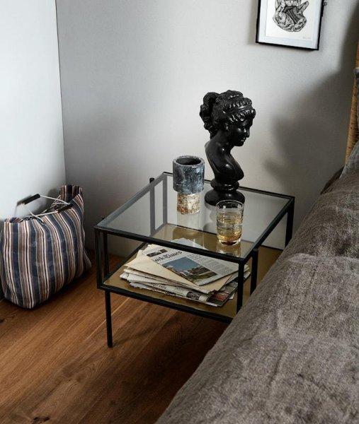 Nordal Parana Golden sofabord 45x45cm