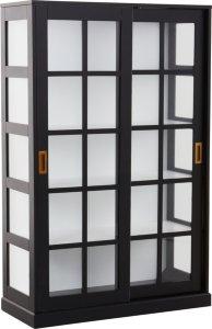 Nittkvarn vitrineskap høyt doble dører