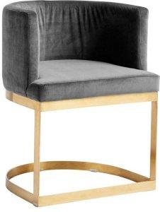 Lounge spisestol i fløyel