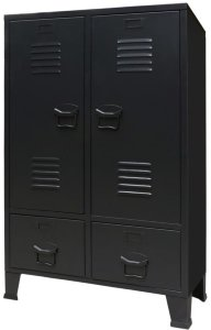 Garderobe metall industriell stil 67x35x107cm