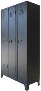 Garderobe metall industriell stil 90x45x180cm