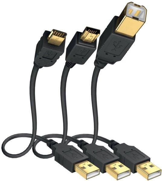 in-akustik Premium USB A-B Mini 3.0m