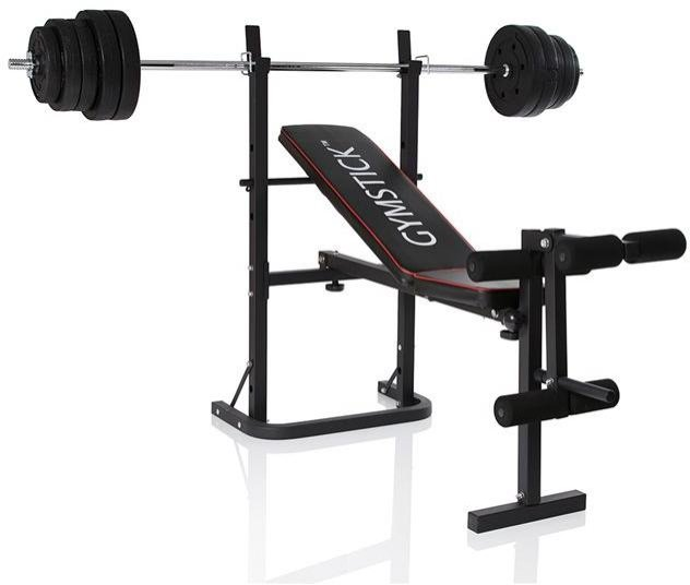 Gymstick Weight Bench med 40 kg vektsett
