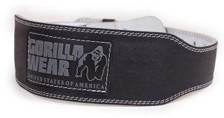 Gorilla Wear Gear 4 Inch Padded Leather Belt