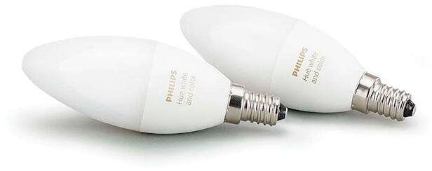 Philips Hue White and Color Ambiance E14 BT 2-pk