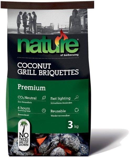 Nature Premium Kokos Grillbriketter 3 kg