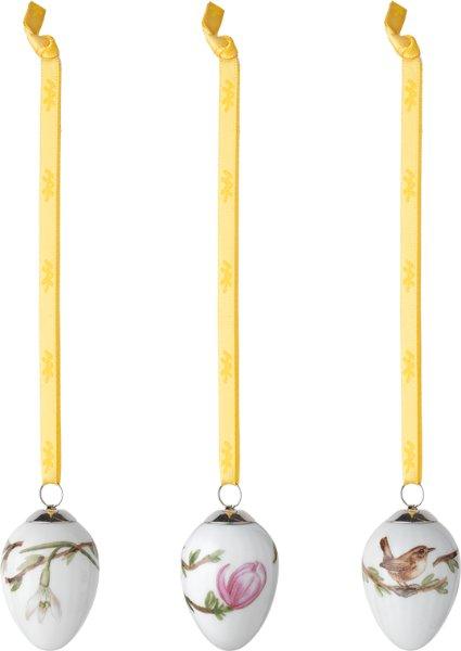 Kähler Hammershøi Easter påskeoppheng 5cm 3 stk