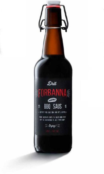 Drit Forbanna BBQ Saus 50 cl