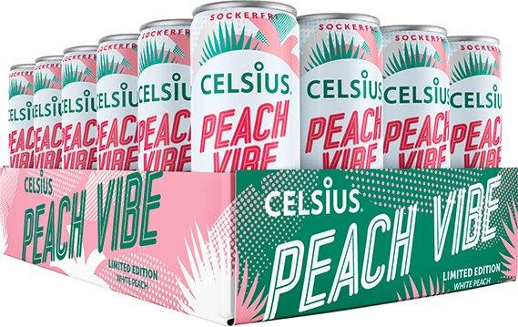 Celsius Peach Vibe 24x355 ml
