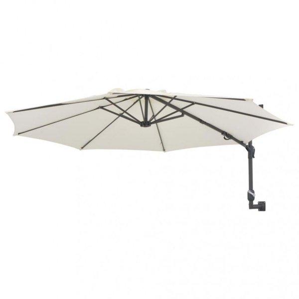 Veggmontert parasoll med stålstang 300cm