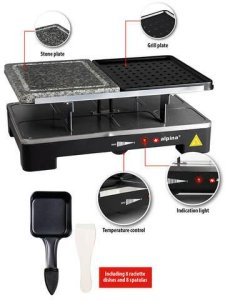 Alpina Raclette Grill Stone Raclette & Fondue