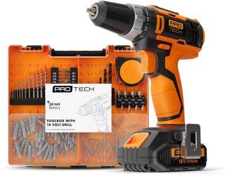 Protech 18V Toolbox, drill og lader