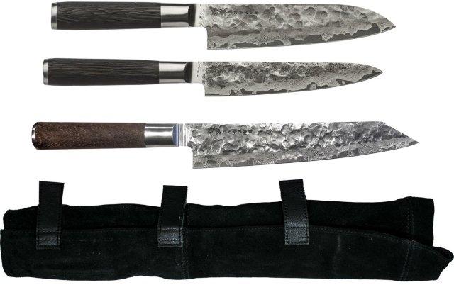 Satake Kuro knivsett 3 deler med knivveske