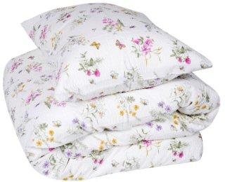 Krepp sengesett blomster