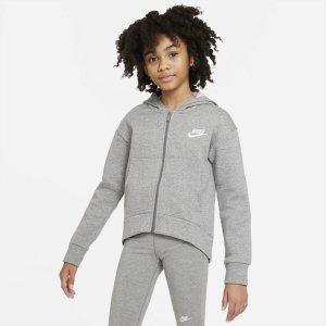 Sportswear Club Fleece hettejakke (Jente)
