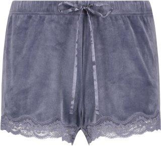 Velvet lace shorts