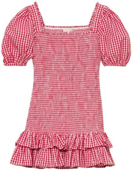 byTiMo Checks Mini Smocking Dress
