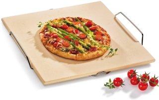 Rektangulær pizzasten med stativ 38cm