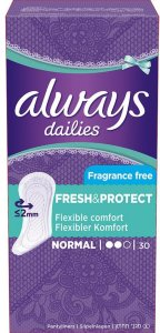 Dailies Normal Liners Fragrance Free 30 stk