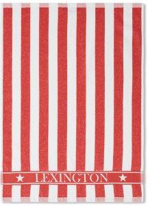 Striped Logo Organic Cotton Terry kjøkkenhåndkle