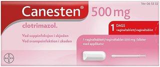 Vagitorier 500 mg
