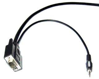 Monitorkabel XGA, Audio 7,5 m