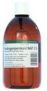 Hydrogenperoksid NAF 3% 500 ml