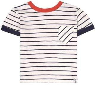 Kids Navy Stripe T-skjorte