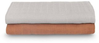 Bamboo Musselinteppe 2-pack, 115x115 cm