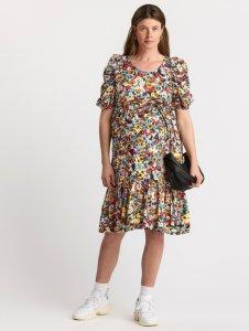 MOM mønstret kjole med puffermer