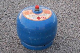 Propanflaske Stål m/gass 2kg