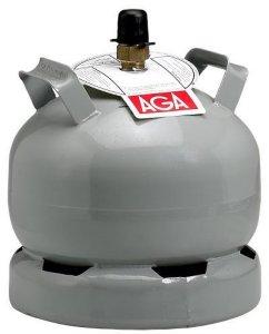 Propanflaske Stål m/gass 5kg