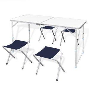 Klappbord med 4 Klappstoler