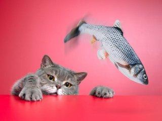 Sprellende fisk katteleke