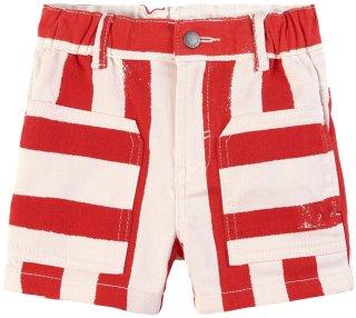 Kids Striped Jeans-shorts