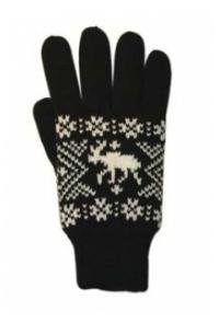 Knitted gloves moose