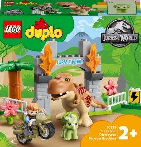 Duplo - 10939 T.Rex og Triceratops rømmer